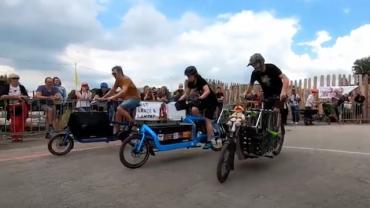La course folle des Vélos Cargo